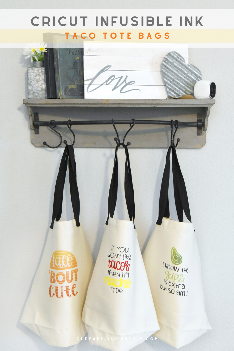 Let's Taco 'Bout Cricut Infusible Ink Tote Bags