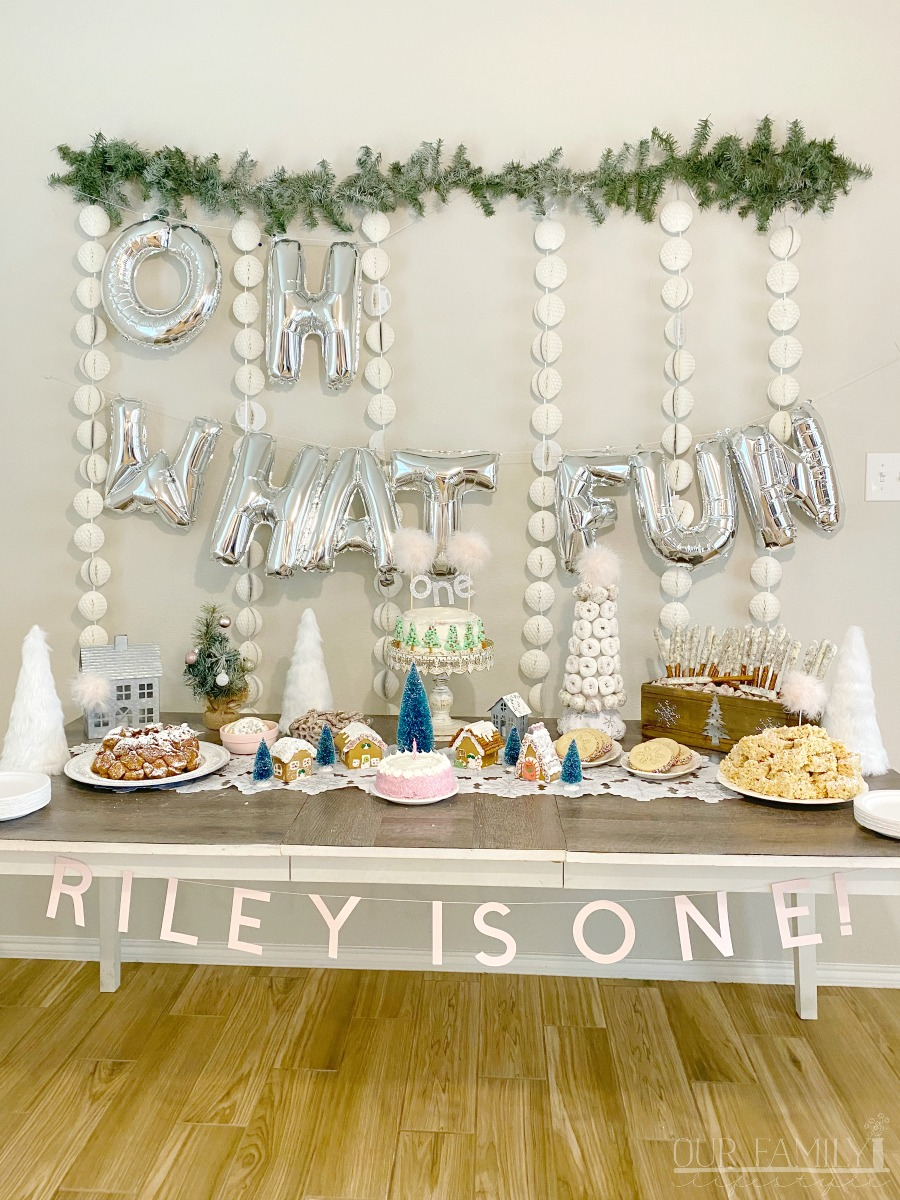 Oh what fun, Riley is one!