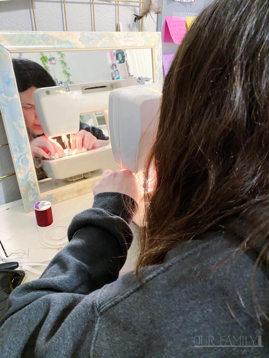 Jaden sewing