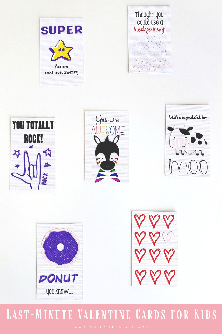 Last-Minute Valentine Cards for Kids