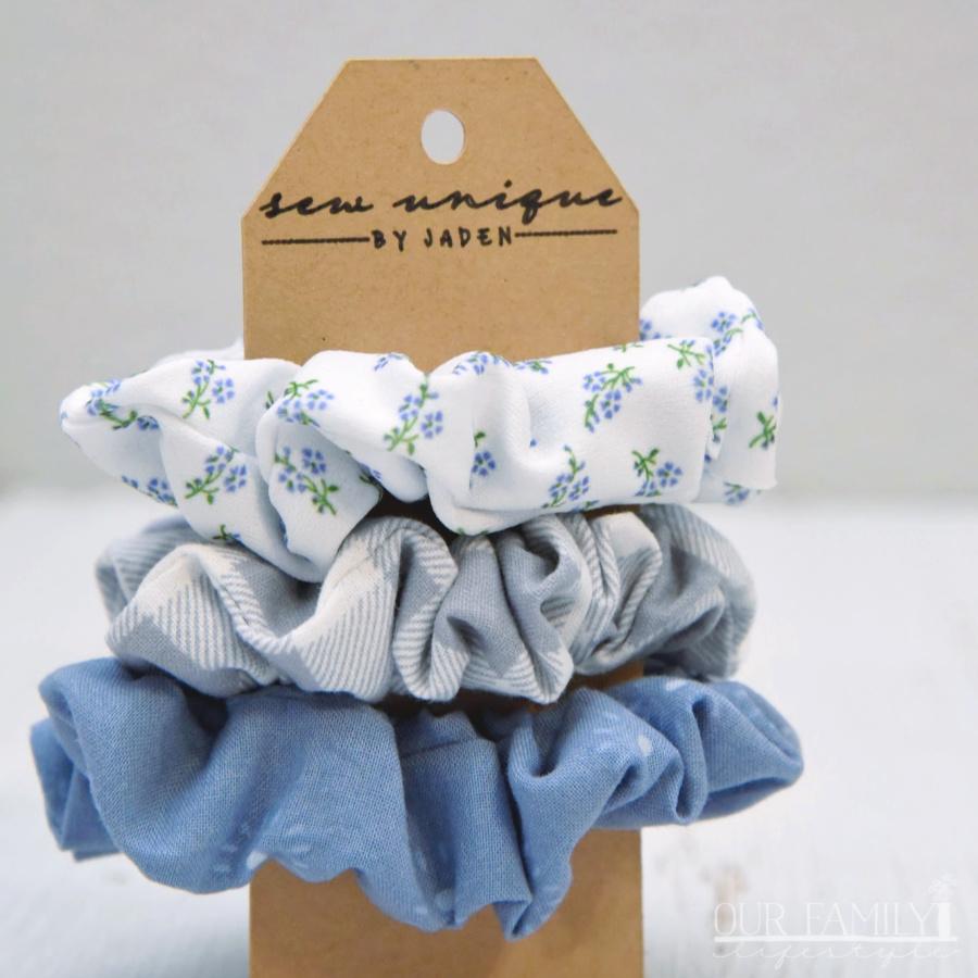 sew unique scrunchie set