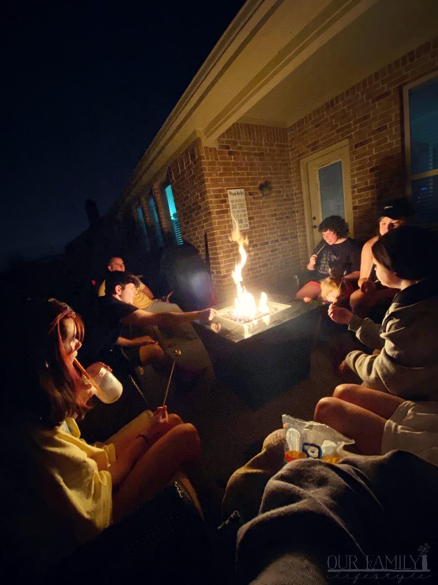 backyard smores party