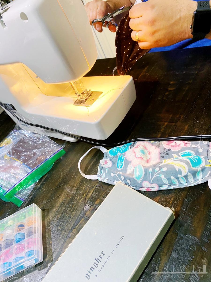 sewing cloth face masks