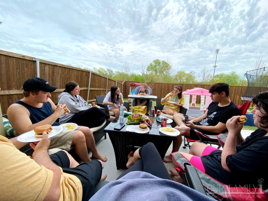 outdoor patio cookout