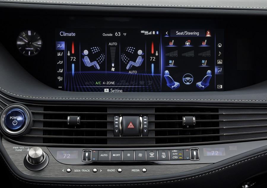 2020 Lexus LS 500h climate zones