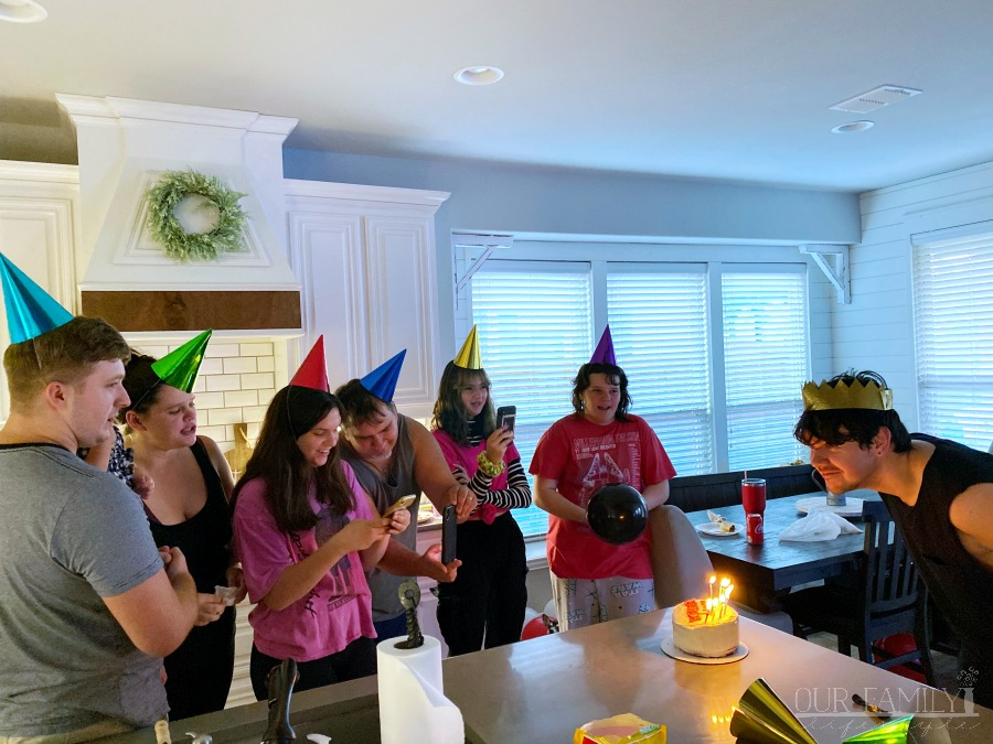 singing happy birthday 23rd party