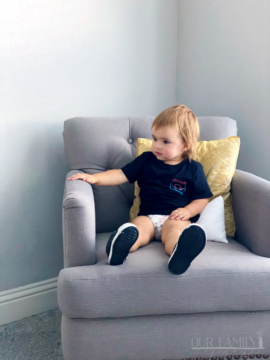 sitting in grandma's chair