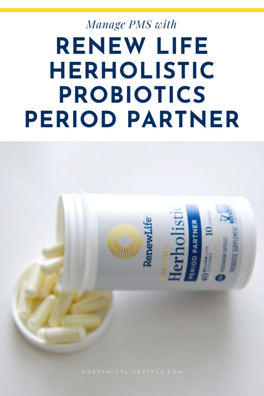 Manage PMS with Renew Life Herholistic Probiotics Period Partner