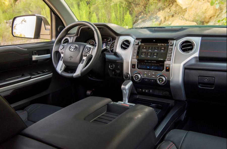 2020 Toyota Tundra TRD Pro Army Green interior