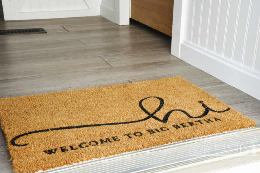 Big Bertha welcome mat