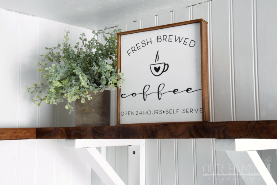 DIY fresh brewed coffee sign