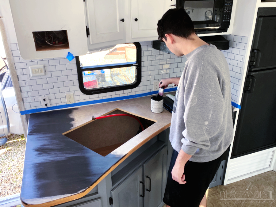 painting rv kitchen countertop