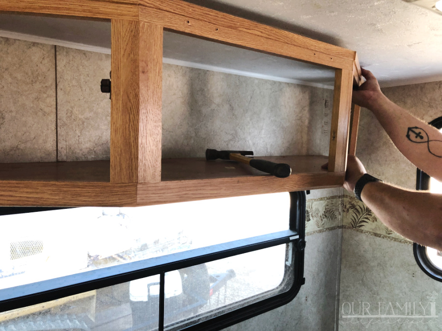 removing rv cabinet step 2