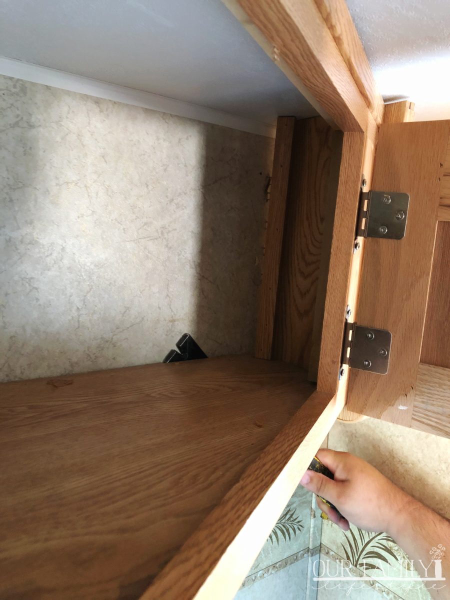removing rv cabinets step 1