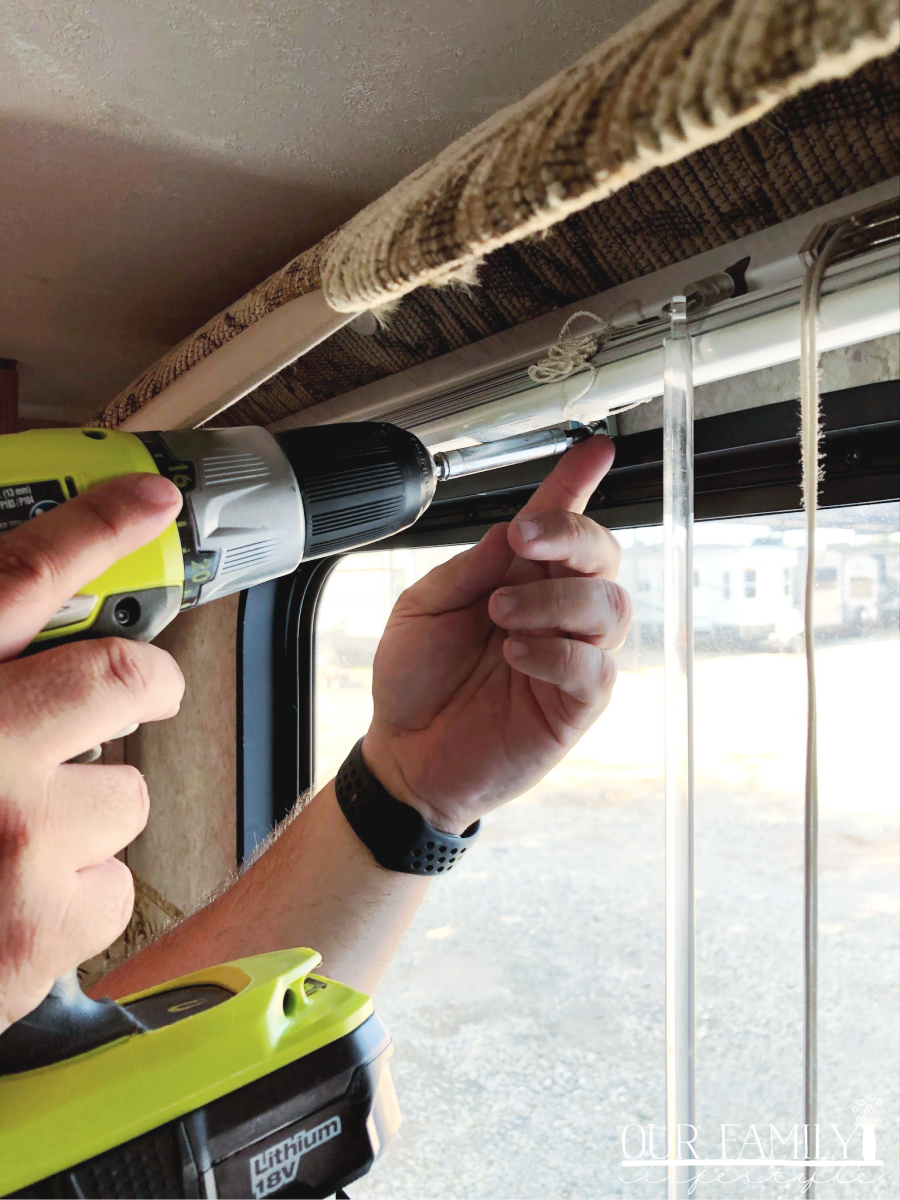 removing rv valances