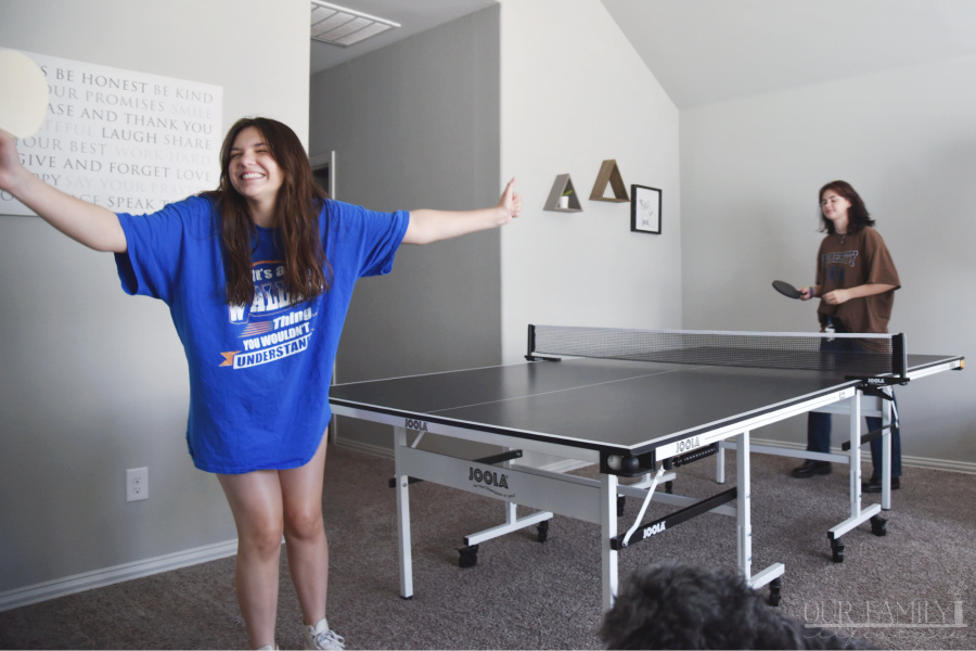 surprise with a ping pong table