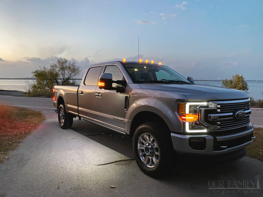 Ford F-350 Limited at the lake