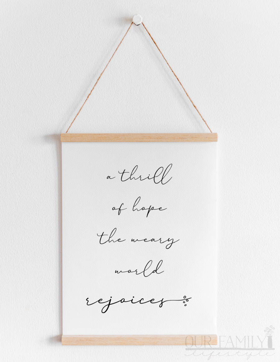 a thrill of hope printable poster