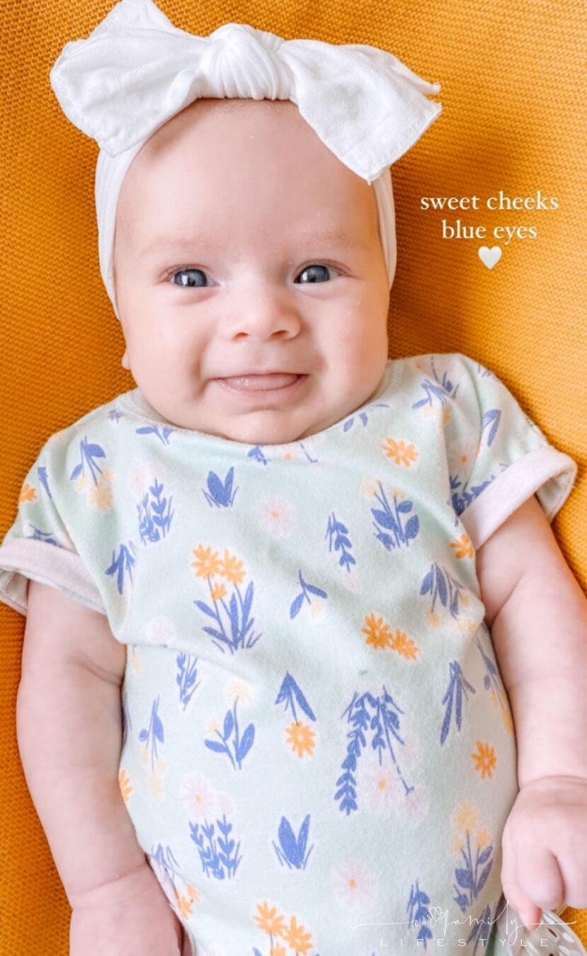 baby avery sweet cheeks blue eyes