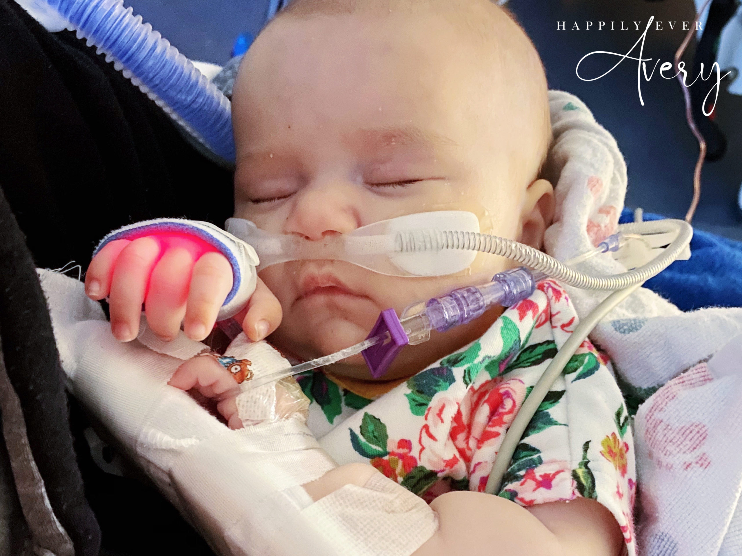 baby with leukemia in ICU