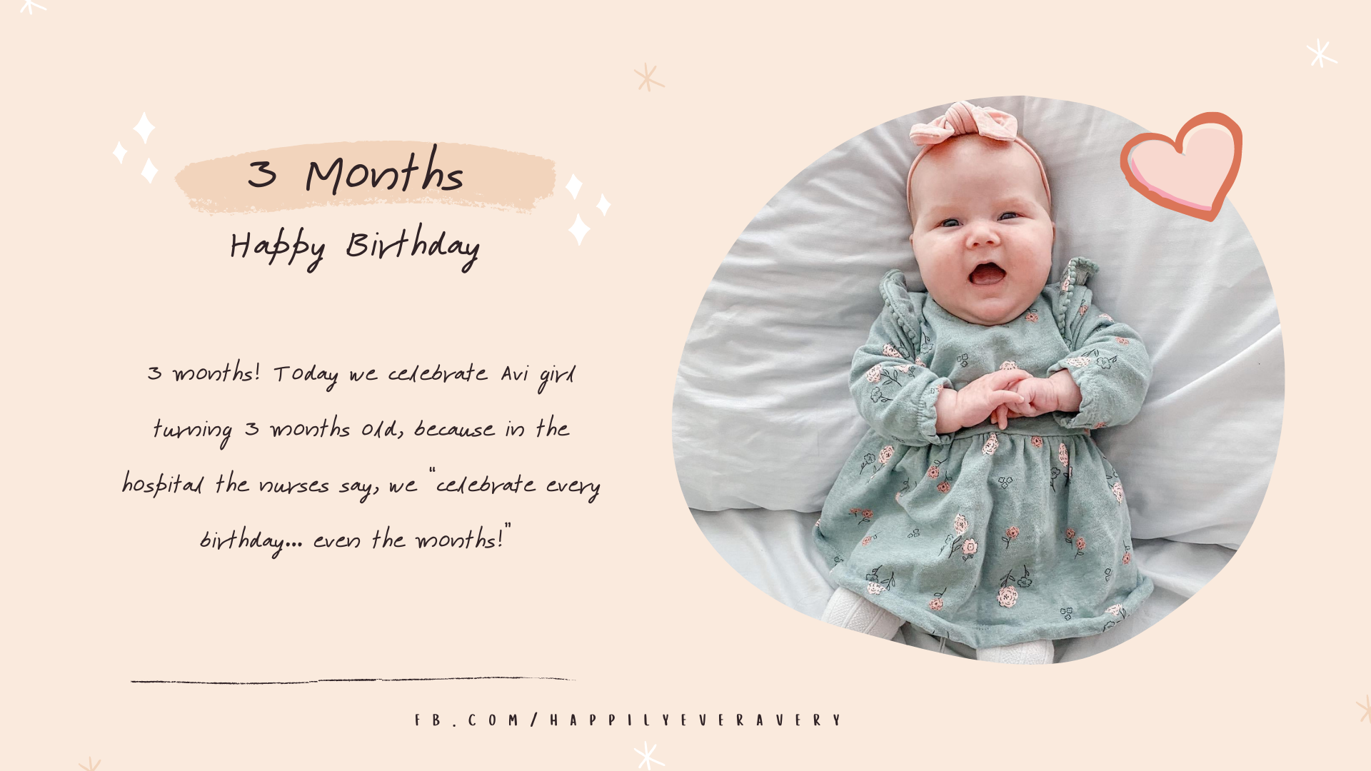 Happily Ever Avery // Happy 3 Months Birthday!