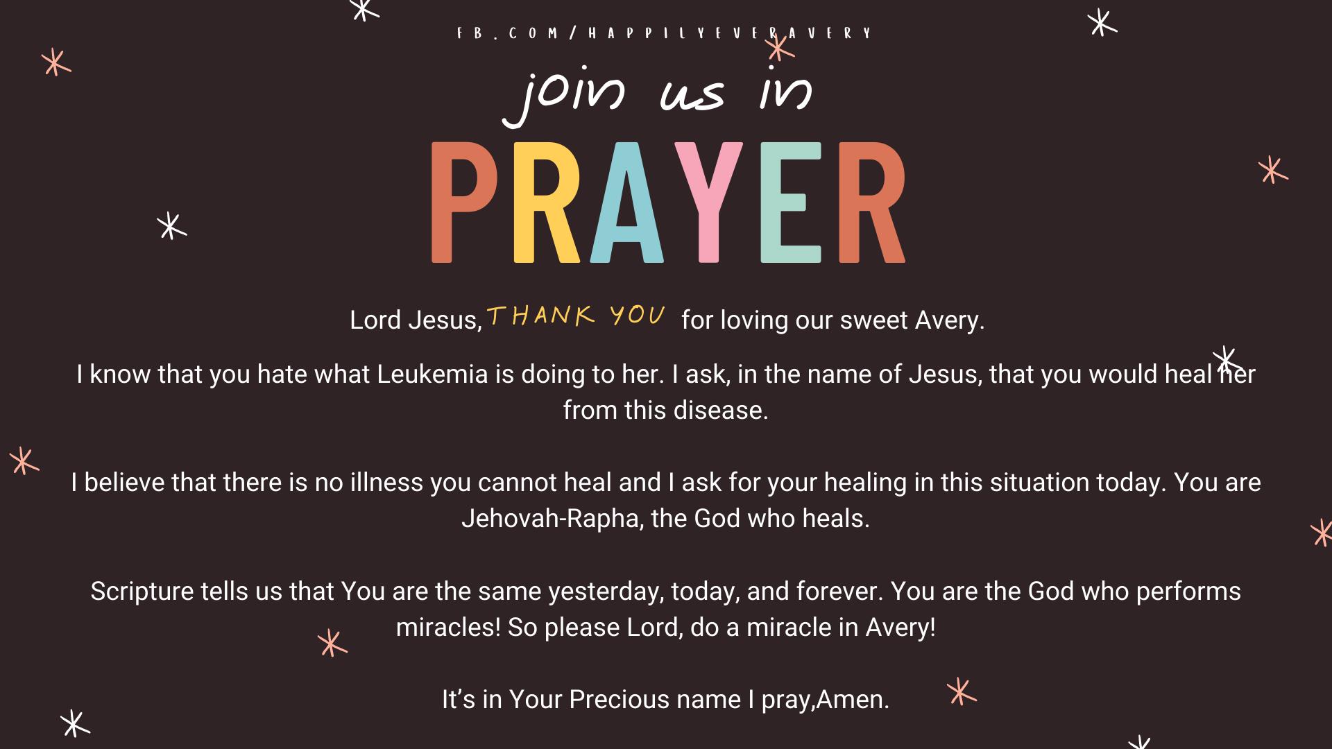 Happily Ever Avery // Healing Prayer