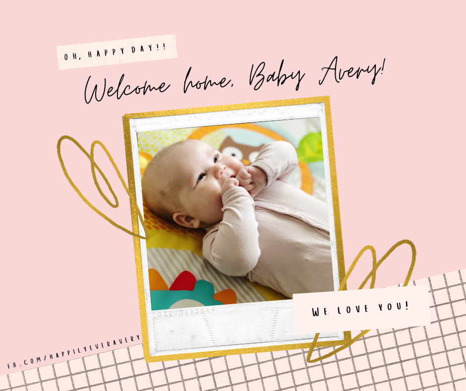 Welcome home, Baby Avery!