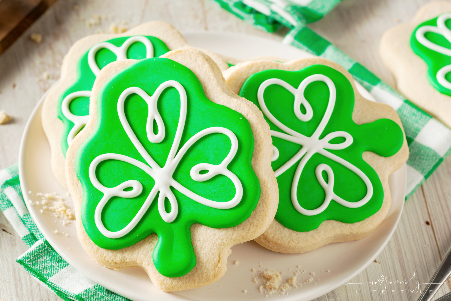 st patrick's day sugar cookies