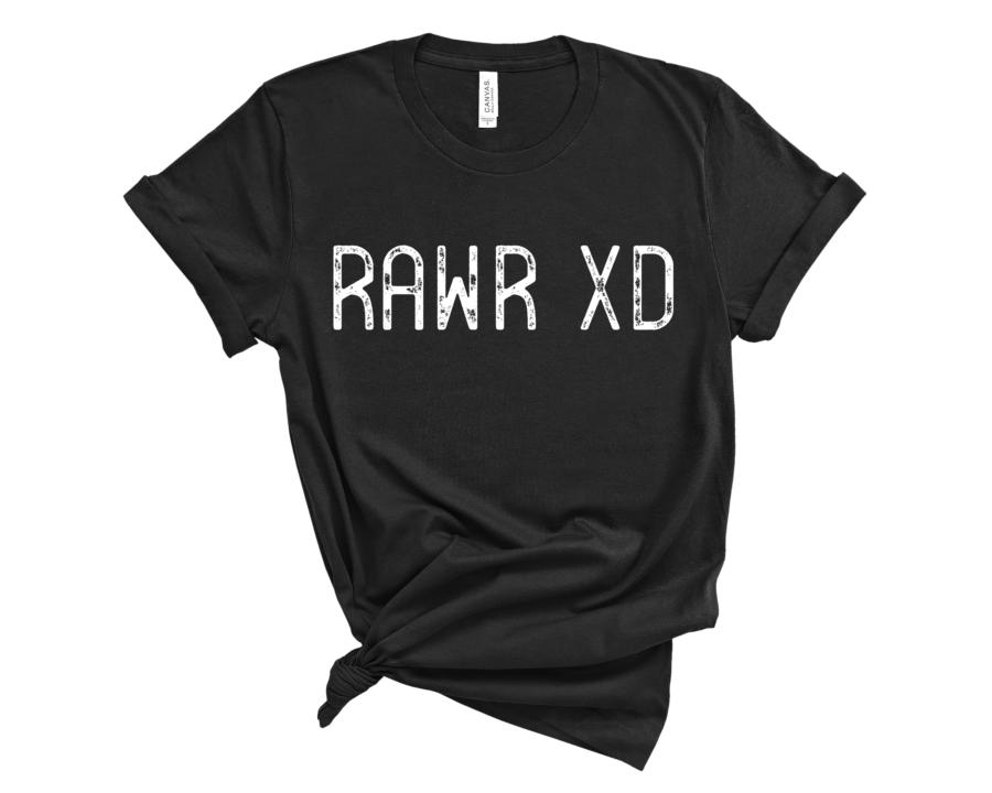 RAWR XD T-Shirt // Black Shirts for Teens // Shirts for Juniors