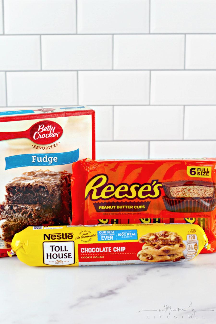 Chocolate Chip Cookie Brownies - Brookies ingredients