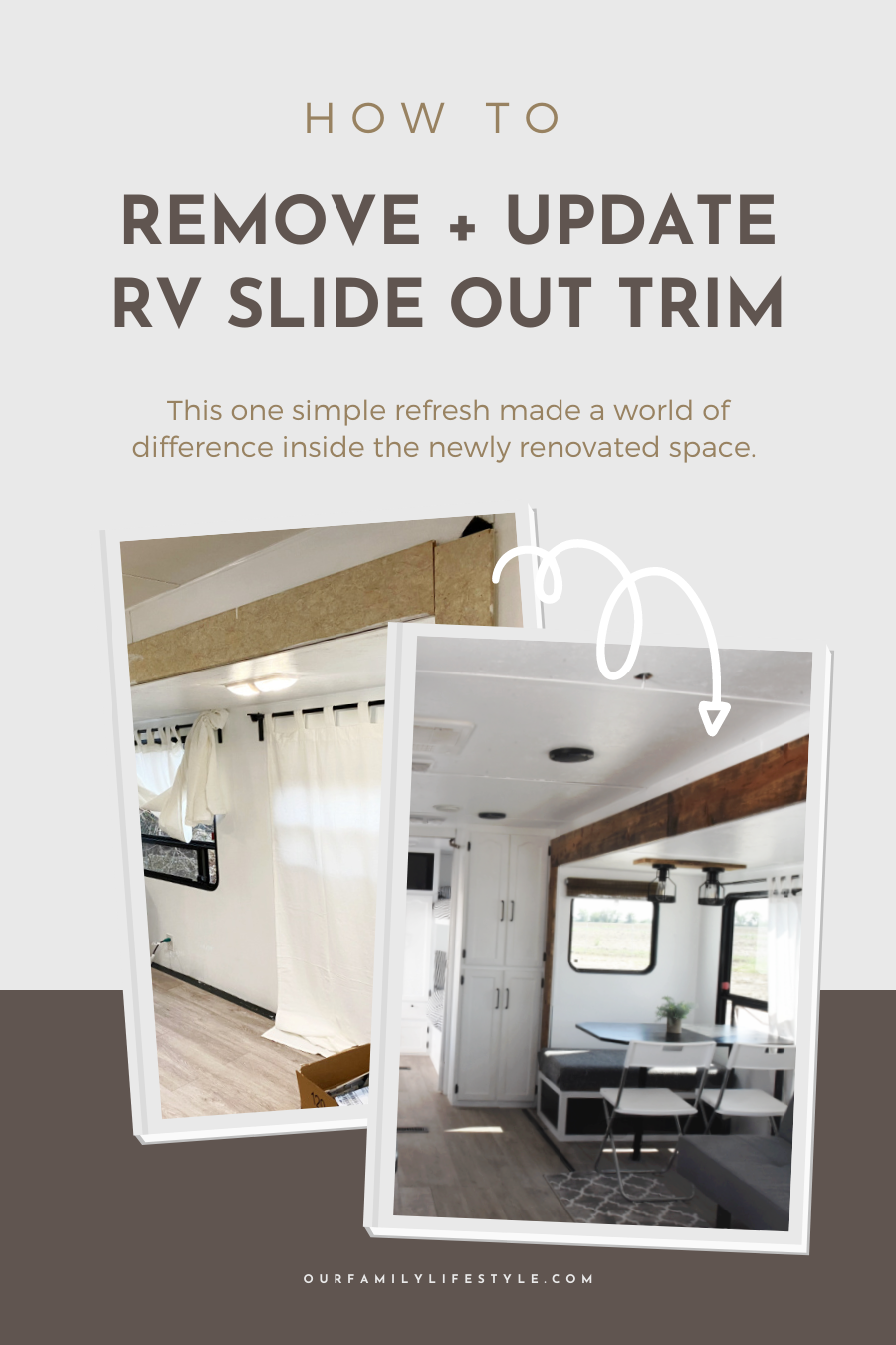 How to Remove + Update RV Slide Out Trim