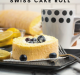 Lemon Blueberry Swiss Cake Roll