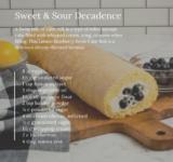 Lemon Blueberry Swiss Cake Roll Recipe