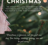 Reclaiming our Holiday Celebration with Second Christmas
