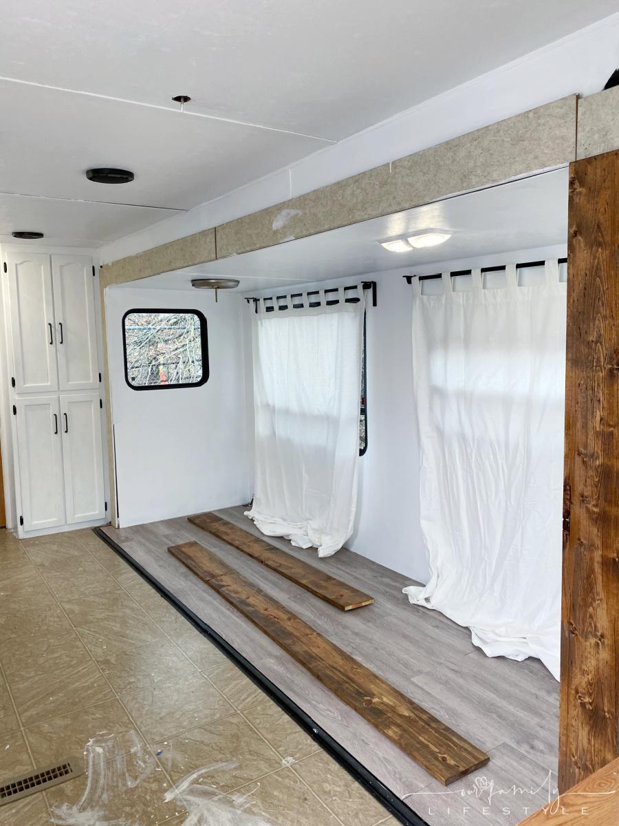 installing trim around travel trailer slide out