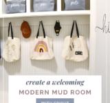 Create a Welcoming Modern Mud Room with Cricut