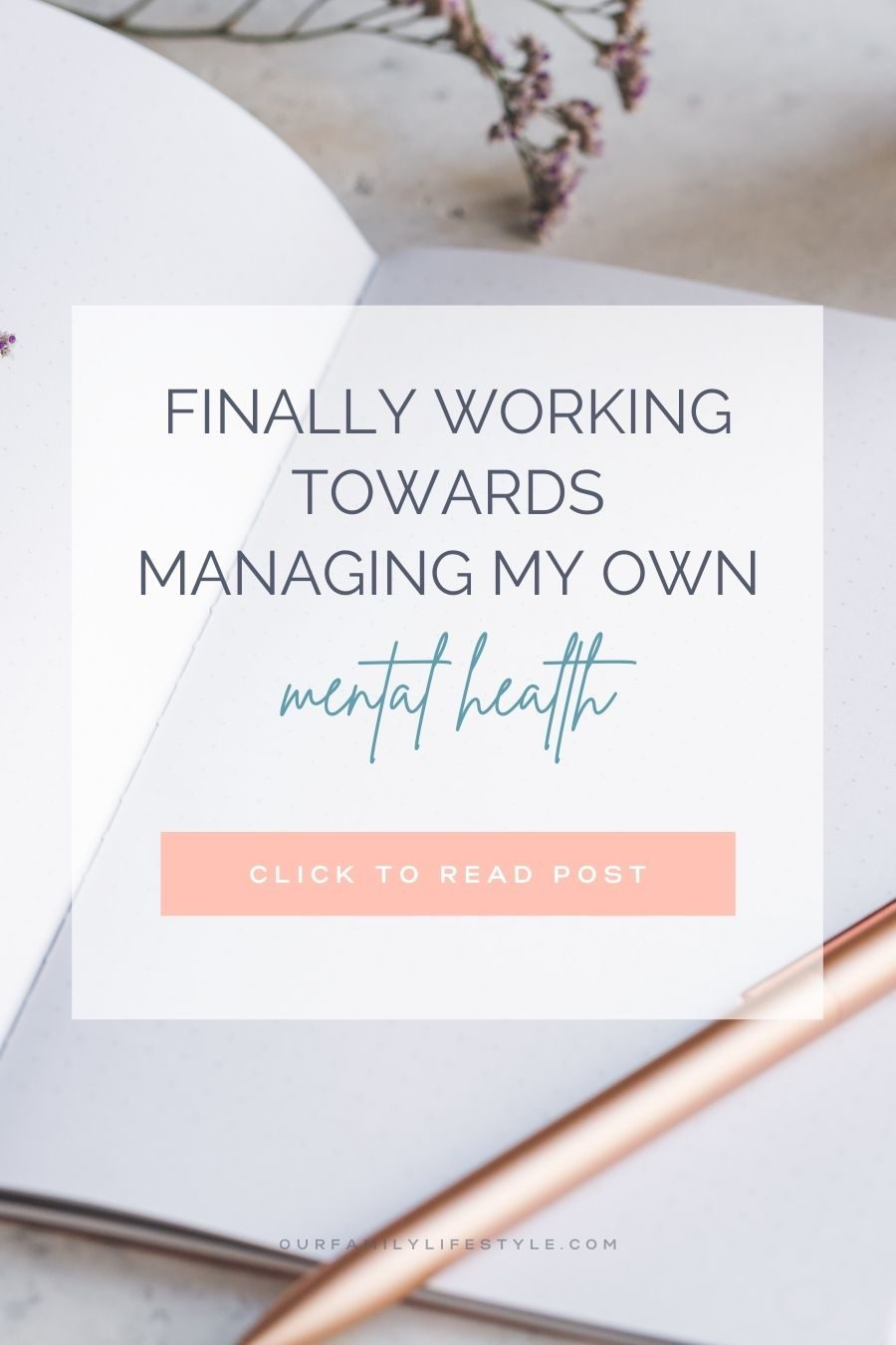 Finally Working Towards Managing My Own Mental Health