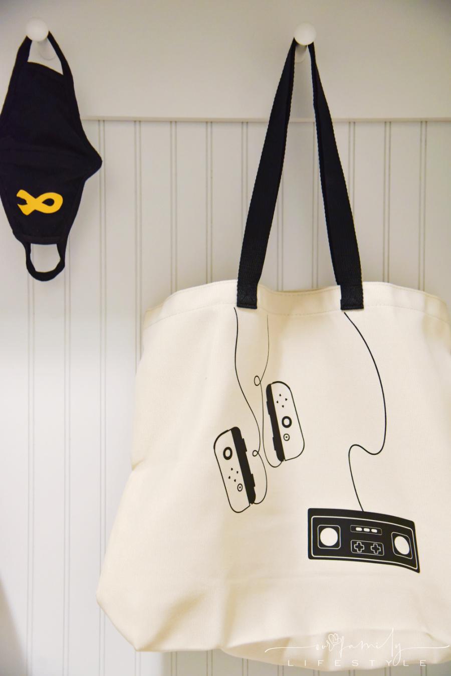 gamer tote bag using Cricut Design Space