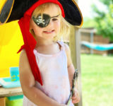 toddler pirate play outfit with patch and sword